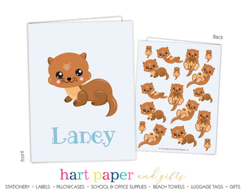 Otter Personalized 2-Pocket Folder School & Office Supplies - Everything Nice
