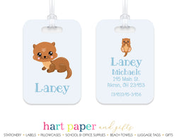 Sea Otter Luggage Bag Tag