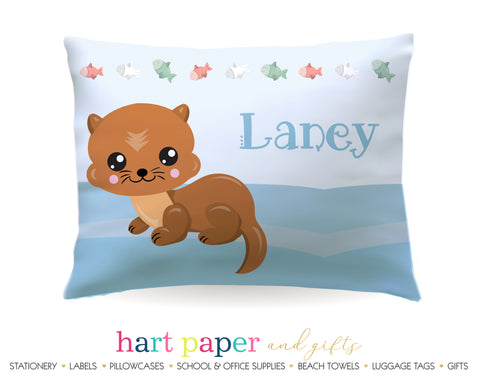 Otter Personalized Pillowcase Pillowcases - Everything Nice
