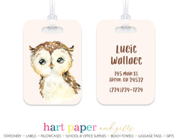 Owl Luggage Bag Tag