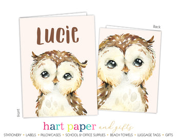 Owl Personalized 2-Pocket Folder School & Office Supplies - Everything Nice