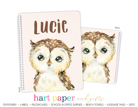 Owl Personalized Notebook or Sketchbook School & Office Supplies - Everything Nice