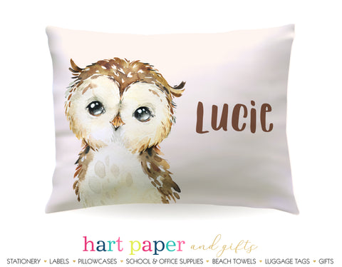 Owl Personalized Pillowcase Pillowcases - Everything Nice