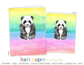Panda Bear Personalized 2-Pocket Folder School & Office Supplies - Everything Nice
