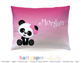 Panda Bear Personalized Pillowcase Pillowcases - Everything Nice