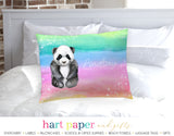 Rainbow Panda Bear Personalized Pillowcase Pillowcases - Everything Nice