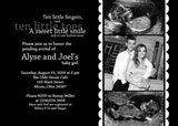 Black Tie Photo Baby Shower Invitation • Any Colors Baby Shower Photo Invitations - Everything Nice