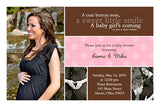 Joyous Photo Baby Shower Invitation • Any Colors Baby Shower Photo Invitations - Everything Nice
