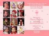 A Year of Fun Collage Photo Birthday Party Invitation • Any Colors Kids Photo Birthday Invitations - Everything Nice