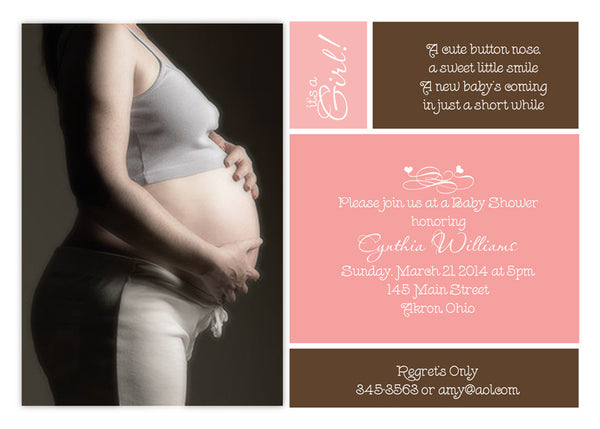 Blocks Cream Photo Baby Shower Invitation • Any Colors Baby Shower Photo Invitations - Everything Nice