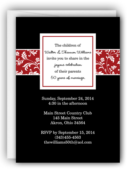Anniversary Party Invitation i • Any Colors Anniversary Party Invitations - Everything Nice