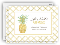 Pineapple Party Invitation • Baby Shower Birthday Picnic • Any Colors
