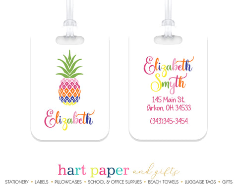 Pineapple Rainbow Luggage Bag Tag School & Office Supplies - Everything Nice