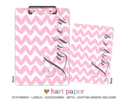 Pink Chevron Personalized Clipboard