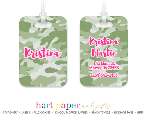 Camouflage Camo Luggage Bag Tag School & Office Supplies - Everything Nice