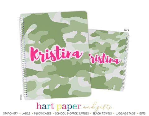 Camouflage Camo Personalized Notebook or Sketchbook School & Office Supplies - Everything Nice