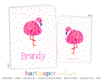 Pink Flamingo Personalized 2-Pocket Folder School & Office Supplies - Everything Nice