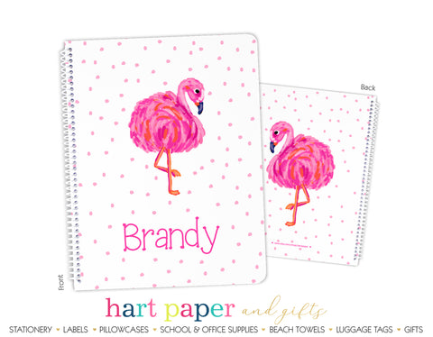 Pink Flamingo Personalized Notebook or Sketchbook School & Office Supplies - Everything Nice