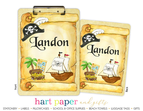 Pirate Ship Personalized Clipboard
