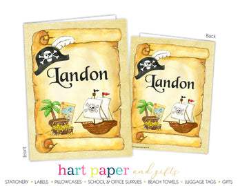 Pirate Ship Personalized 2-Pocket Folder School & Office Supplies - Everything Nice