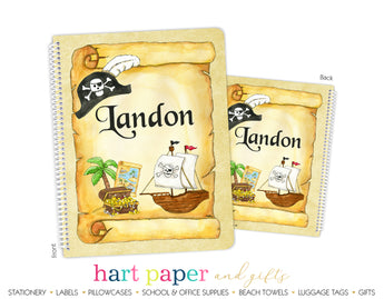 Pirate Ship Personalized Notebook or Sketchbook