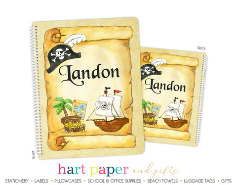 Pirate Ship Personalized Notebook or Sketchbook School & Office Supplies - Everything Nice