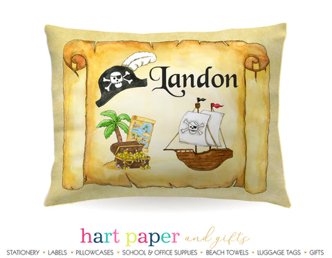 Pirate Ship Personalized Pillowcase Pillowcases - Everything Nice