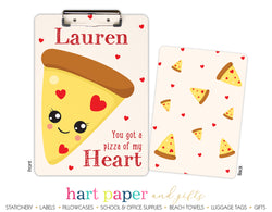Pizza Hearts Personalized Clipboard