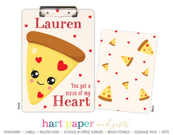 Pizza Hearts Personalized Clipboard School & Office Supplies - Everything Nice