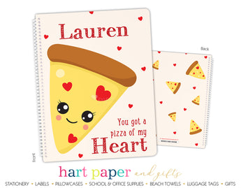 Pizza Hearts Personalized Notebook or Sketchbook School & Office Supplies - Everything Nice