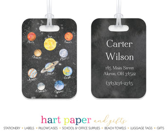 Planets Space Luggage Bag Tag School & Office Supplies - Everything Nice