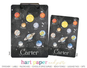 Planets Personalized Clipboard School & Office Supplies - Everything Nice