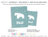 Polar Bear Personalized Notebook or Sketchbook School & Office Supplies - Everything Nice