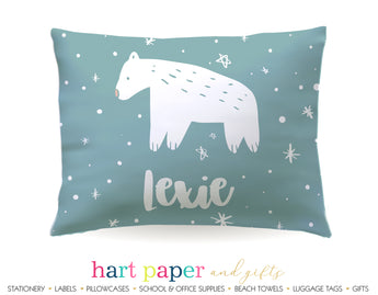 Polar Bear Personalized Pillowcase Pillowcases - Everything Nice