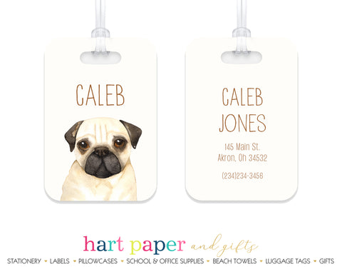 Pug Dog Luggage Bag Tag School & Office Supplies - Everything Nice