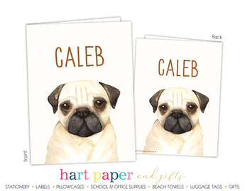 Pug Dog Personalized 2-Pocket Folder School & Office Supplies - Everything Nice