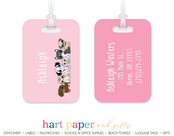 Puppies Luggage Bag Tag