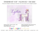 Unicorn Personalized Pillowcase Pillowcases - Everything Nice
