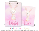 Bunny Rabbit Personalized Clipboard School & Office Supplies - Everything Nice