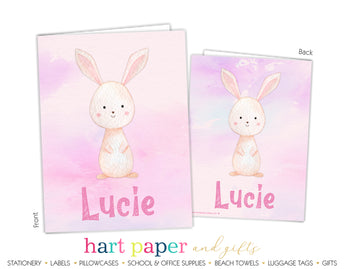 Bunny Rabbit Personalized 2-Pocket Folder School & Office Supplies - Everything Nice
