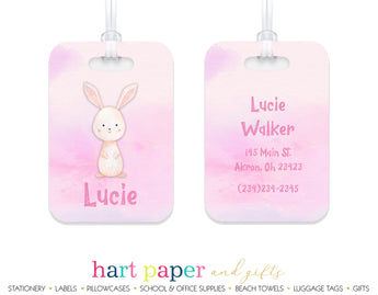 Bunny Rabbit Luggage Bag Tag School & Office Supplies - Everything Nice