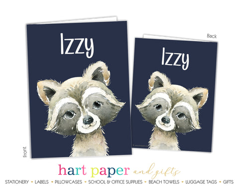 Raccoon Personalized 2-Pocket Folder School & Office Supplies - Everything Nice