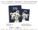 Raccoon Personalized Notebook or Sketchbook School & Office Supplies - Everything Nice