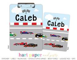 Race Car Personalized Clipboard