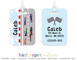 Race Cars Luggage Bag Tag