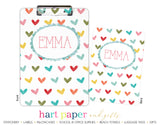 Rainbow Hearts b Personalized Clipboard School & Office Supplies - Everything Nice