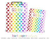 Rainbow Hearts Personalized Clipboard School & Office Supplies - Everything Nice