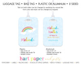 Rainbow Sky Luggage Bag Tag