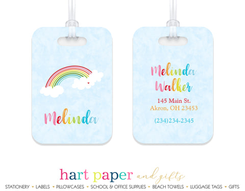 Rainbow Sky Luggage Bag Tag School & Office Supplies - Everything Nice