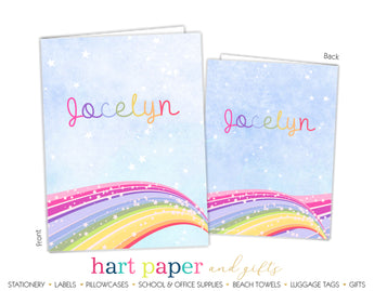 Rainbow Sky Personalized 2-Pocket Folder School & Office Supplies - Everything Nice